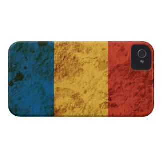 Bandera rumana rugosa Case-Mate iPhone 4 protector