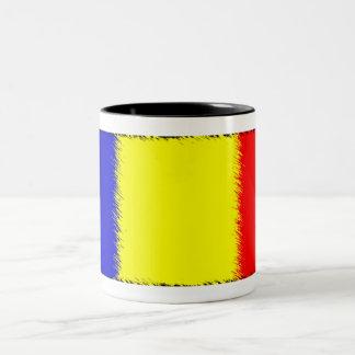 Bandera rumana taza dos tonos