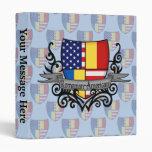 Bandera Rumano-Americana del escudo