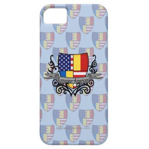 Bandera Rumano-Americana del escudo iPhone 5 Coberturas