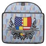 Bandera Rumano-Americana del escudo Funda Para Macbook Pro