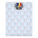 Bandera Rumano-Americana del escudo Plantillas De Membrete