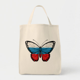 Bandera rusa de la mariposa bolsa