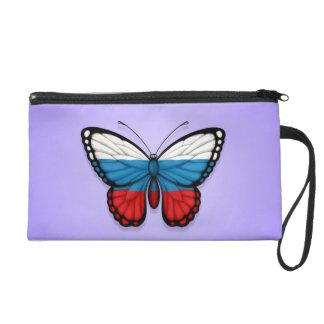 Bandera rusa de la mariposa en púrpura