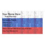 Bandera rusa de madera tarjetas personales