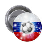 Bandera rusa del fútbol pins