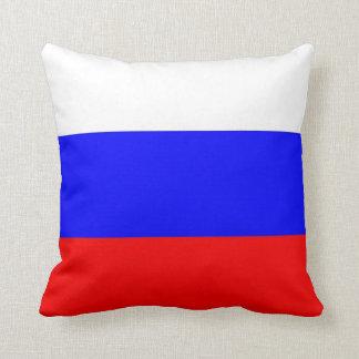 Bandera rusa en la almohada de MoJo del americano
