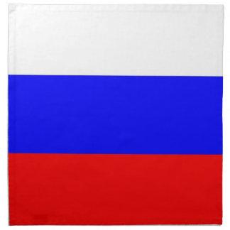 Bandera rusa en la servilleta de MoJo