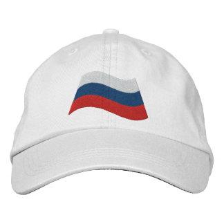 Bandera rusa gorra bordada