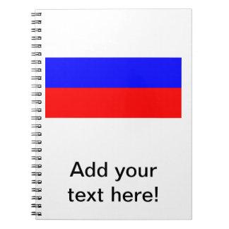 Bandera rusa libros de apuntes con espiral
