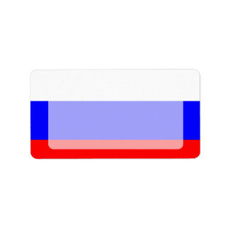 Bandera rusa pelada moderna etiquetas de dirección