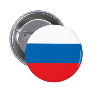 Bandera rusa pin redondo de 2 pulgadas