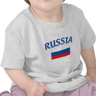 Bandera rusa camiseta