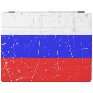 Bandera rusa rascada y rasguñada cover de iPad