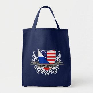 Bandera Ruso-Americana del escudo Bolsas De Mano