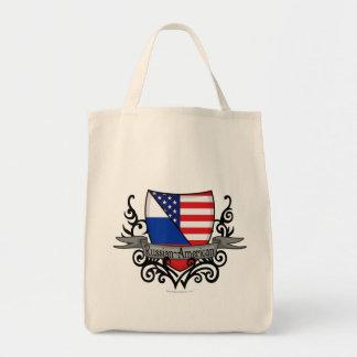 Bandera Ruso-Americana del escudo Bolsas