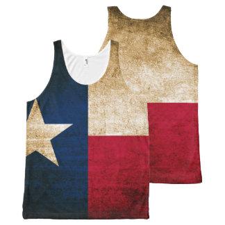 Bandera rústica del vintage de Tejas Camiseta De Tirantes Con Estampado Integral