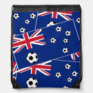 Bandera s6 pillow.png del fútbol de Australia Mochilas