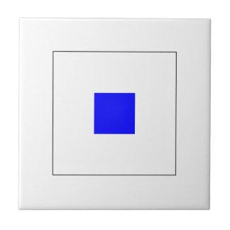 Bandera S del ICS Azulejo Cuadrado Pequeño