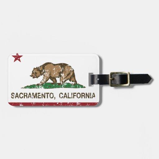 bandera Sacramento de California Etiquetas Para Maletas