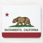 bandera Sacramento de California Tapete De Ratones