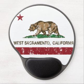 Bandera Sacramento del oeste del estado de Califor Alfombrillas De Ratón Con Gel