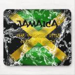 Bandera salpicada agua Mousepad de Jamaica Tapetes De Ratón