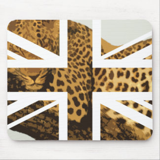 Bandera salvaje de Jack Británicos (Reino Unido) d Tapete De Ratones