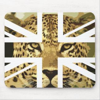 Bandera salvaje de Jack Británicos (Reino Unido) d Tapetes De Ratones