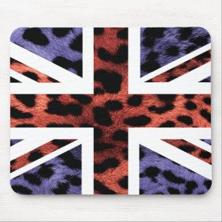 Bandera salvaje de Jack Británicos (Reino Unido) d Alfombrillas De Ratón