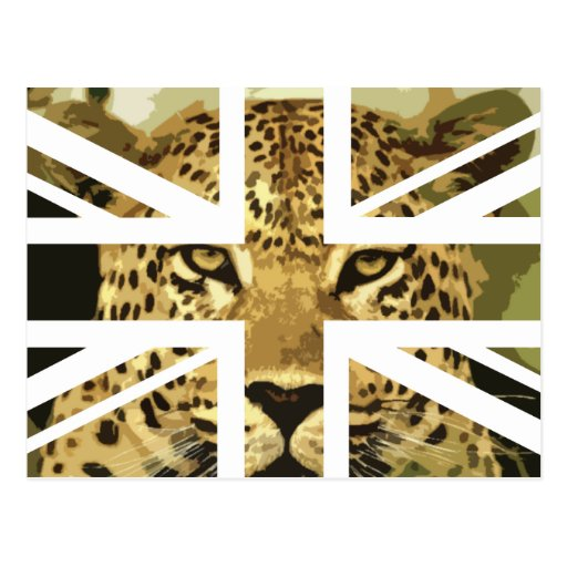 Bandera salvaje de Jack Británicos (Reino Unido) Tarjeta Postal