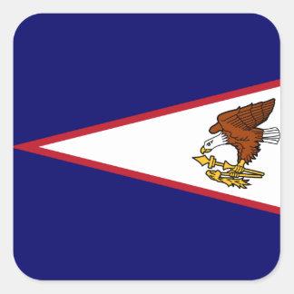 Bandera samoana pegatina cuadrada