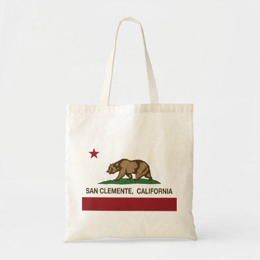 Bandera San Clemente del estado de California Bolsas Lienzo