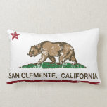 Bandera San Clemente del estado de California Cojin