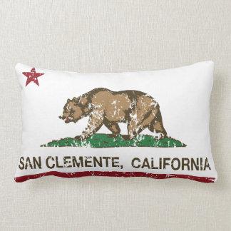 Bandera San Clemente del estado de California Cojín