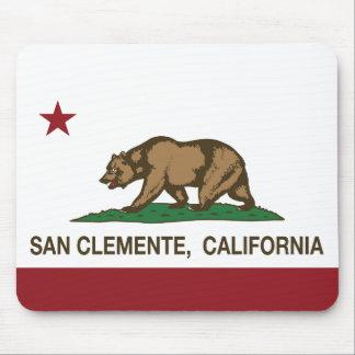 Bandera San Clemente del estado de California Tapete De Ratón