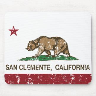 Bandera San Clemente del estado de California Alfombrilla De Raton