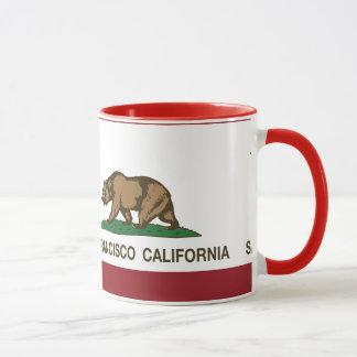 Bandera San Francisco del estado de California Taza