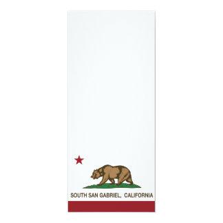 """Bandera San Gabriel del sur de la república de Invitación 4"""" X 9.25"""""""