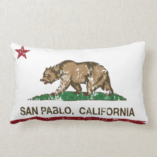 Bandera San Pablo del estado de California Almohada