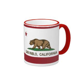 Bandera San Pablo del estado de California Tazas De Café