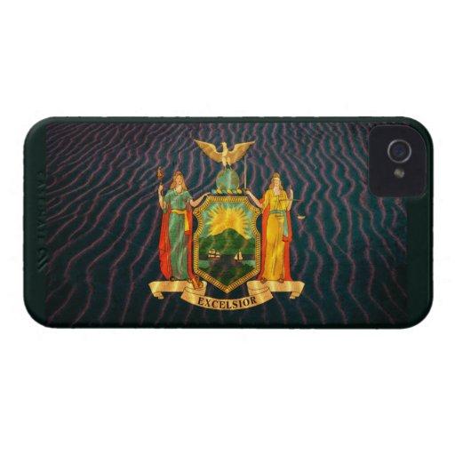 Bandera Sandy de Nueva York iPhone 4 Case-Mate Fundas