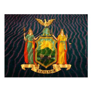 Bandera Sandy de Nueva York Tarjetas Postales