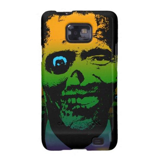 Bandera sangrienta de Obama del zombi Samsung Galaxy S2 Carcasas