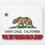 Bandera Santa Cruz del estado de California Mousepad