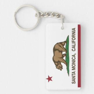 Bandera Santa Mónica del estado de California Llavero