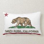 Bandera Santa Rosa del estado de California Almohadas