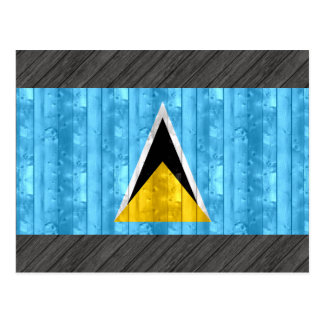 Bandera santalucense de madera postales