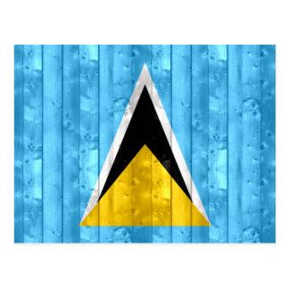 Bandera santalucense de madera tarjetas postales
