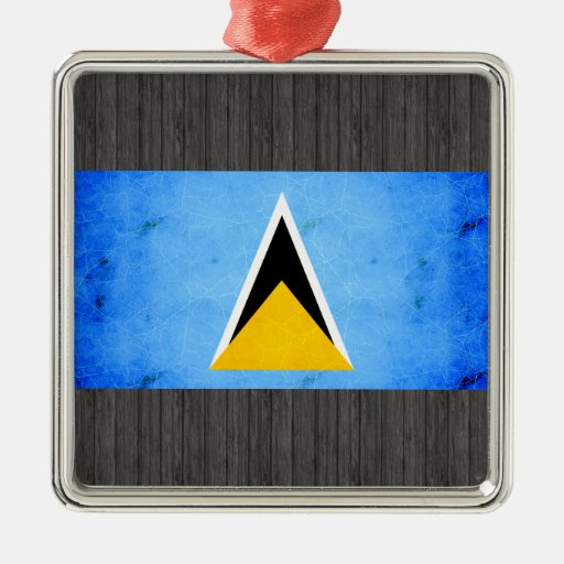 Bandera santalucense nerviosa moderna ornamentos de reyes